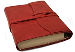Amalfi Red Handmade Italian Leather Address Book (9cm x 13cm)