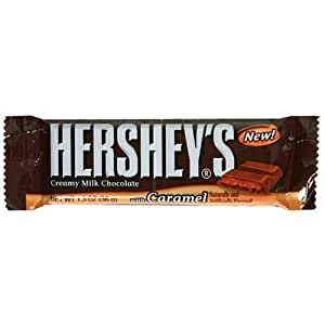 Hershey's Creamy Milk Chocolate Bar with Caramel, 1.3-Ounce Bars (Pack of 36)