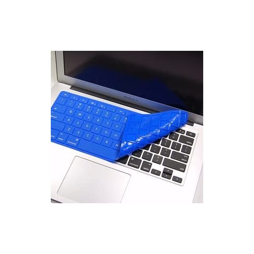 ® Quality Blue Solid Pure Silicone Keyboard cover skin for Macbook