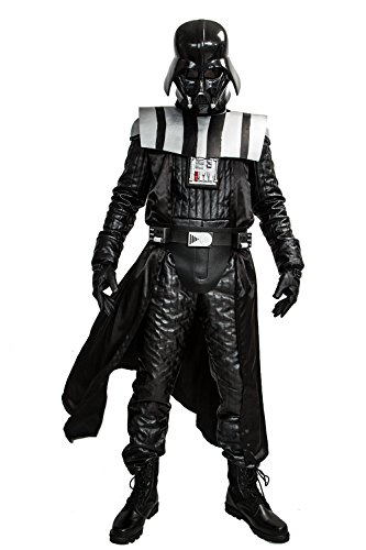 [Deluxe Men's Darth Vader Costume for Halloween Cosplay Custom Made] (Darth Vader Deluxe Costumes)