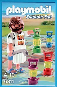 Playmobil - Summer Fun - Mini Board Game for 2-4 Players & Figure - BBQ Chef - 6311 - 1