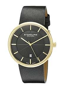 Stuhrling Original Men's 244.333554 Classic Ascot Fairmount Swiss Quartz Date Ultra Slim Gold Tone Watch