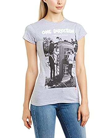 One Direction Women's Take Me Home Crew Neck Short Sleeve T-Shirt, Black, Size 14 (Manufacturer Size:X-Large)