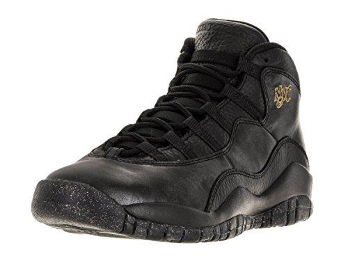Nike Jordan Kids Air Jordan 10 Retro Bg Black/Black/Drk Grey/Mtllc Gld Basketball Shoe 5 Kids US