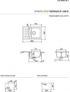 Schock GEND100SUGEV Genius D100S Unterbau, Farbe everest  BaumarktKundenbewertung und weitere Informationen