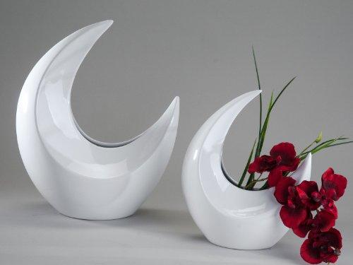Wunderschöne Deko Vase weiß aus Keramik Höhe 40 cm