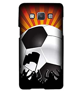 Printvisa Premium Back Cover Football With Sunlight Pattern Design For Samsung Galaxy A7::Samsung Galaxy A7 A700F