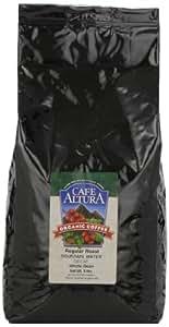 Cafe Altura Whole Bean Organic Coffee, Regular Roast Mountain Water Decaf, 5 Pound