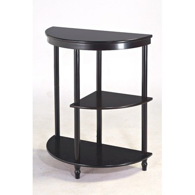 Frenchi Furniture Cherry 3-Tier Crescent ,Half Moon ,Hall / Console Table/End Table