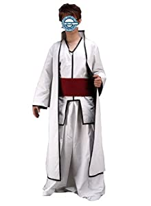 Bleach Sosuke Aizen White Party Suit 2rd Version Anime Cosplay Costume in Size L