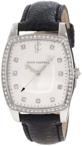 Juicy Couture Women's 1900977 Beau Black Leather Strap Watch