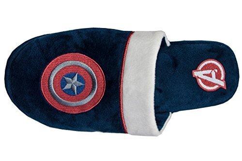 Marvel Captain America Adult Mule Slippers UK Size 8-10