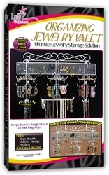 "Organizing Jewelry Valet (White) (14.5""H x 23.75""W x 2.375""D): Home & Kitchen"