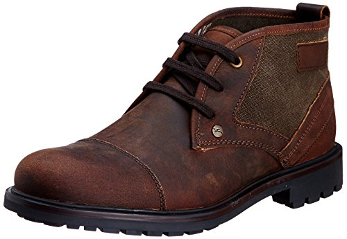 Famozi Famozi Men's Leather Boots (Multicolor)