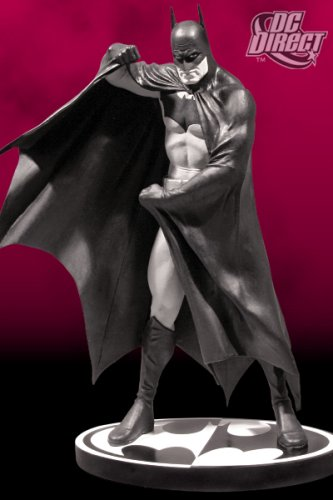 Batman:  Black & White Mini-Statue Designed by Alex Ross - Buy Batman:  Black & White Mini-Statue Designed by Alex Ross - Purchase Batman:  Black & White Mini-Statue Designed by Alex Ross (DC Comics, Toys & Games,Categories,Toy Figures & Playsets,Movie & TV)