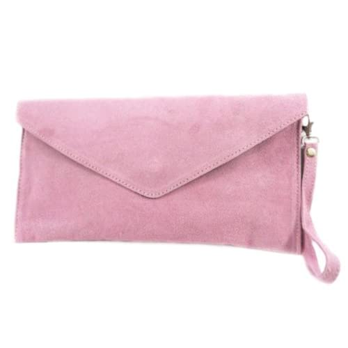 New Girly HandBags Genuine Suede Leather Envelope Clutch Bag Envelope Wrist Bag Evening Elegant Womens