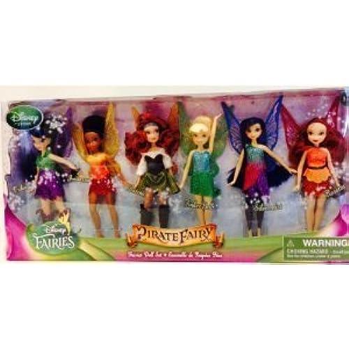 Disney (디즈니)Pirate Fairy Set of 6 Dolls Tinkerbell (T 가베루 ) Fairy Doll NEW 돌 인형 피규어(병행수입)