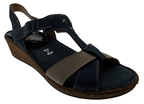 sandalo blu beige nabuk art 22820-2 37 blu
