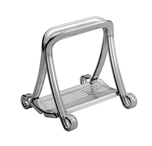 InterDesign York Houseware, Grip Napkin Holder for Kitchen Countertops, Table - Chrome