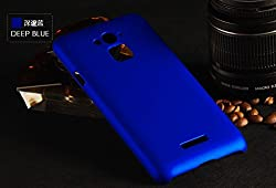 SDO Luxury Matte Finish Rubberised Slim Hard Case Back Cover for Coolpad Note 3 - Blue + Clear Screen Guard + Nano Sim Adpater + Touch Screen Pen Style Stylus Combo Set