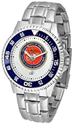 US Marines Suntime Competitor Game Day Steel Band Watch - NCAA College Athletics