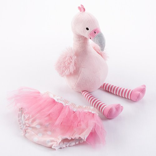Baby Aspen Fancy Pants Plush Flamingo & Bloomer For Baby - 1