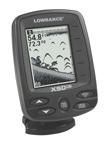 Lowrance x50 ds 4 inch waterproof fishfinder and dual beam for Best rated fish finder