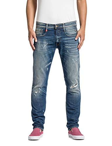 Replay Herren Slim Jeans Anbass, Gr. W32/L34 (Herstellergröße: 32), Blau (Blue Denim 9) thumbnail