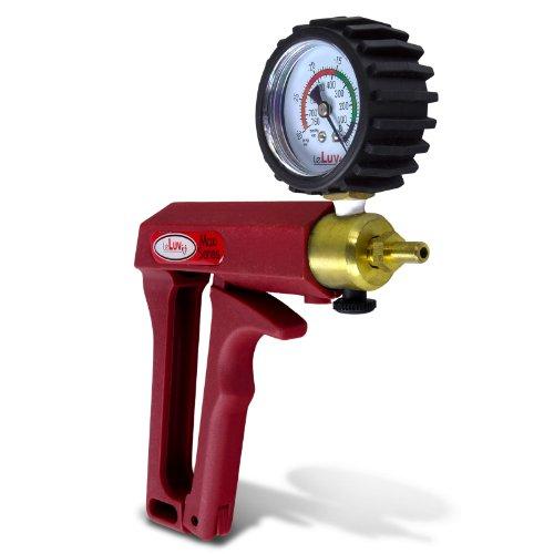 41lx4bQv2%2BL. SL500  LeLuv MAXI Red Pistol Grip Brass Vacuum Pump w/ Gauge  &  Cover