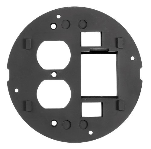 hubbell-wiring-systems-s1spdu2im-cast-aluminum-system-one-datacom-and-duplex-sub-plate