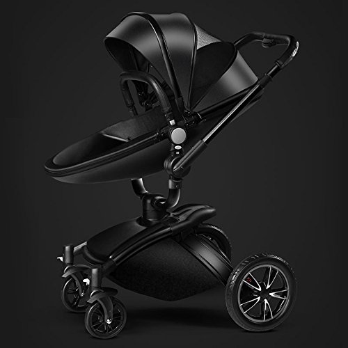 AiQi-Pushchair-3-in-1-Prams-travel-system-with-Bassinet-360-degrees-Angle-White