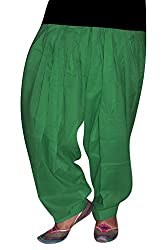 Bansal Collection Women's Patialas (Green_Free Size)