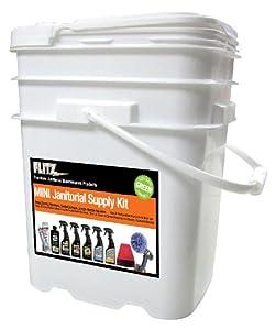 Flitz MPJS 21502 Mixed Mini Janitorial Supply Kit/Bucket by Flitz