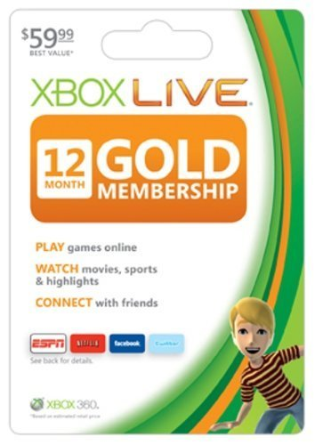 Live 12 Month Gold Card