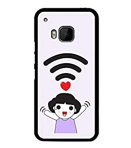Vizagbeats WiFI Girl Love Back Case Cover for HTC One M9