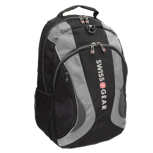 Swiss Gear Mercury Notebook Backpack Fits Lcd Screens Up To 16 Inches Black/Grey