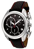 TISSOT Watch:Men's T-Sport Chronograph Black Dial Black Perforated Leather