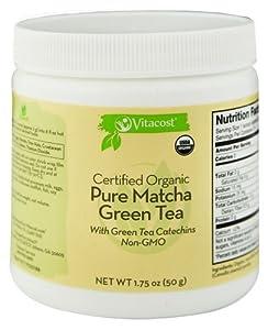 Vitacost Certified Organic Pure Matcha Green Tea Powder - Non-GMO -- 1.75 oz (50 g) - 2 pc from Vitacost