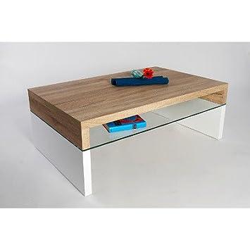 HL Design 01-12-172.1 Annika Table basse en bois Chêne Clair Sonoma 110,0 x 70,0 x 40,0 cm