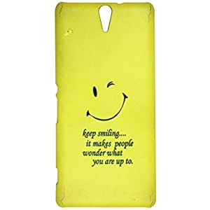 Casotec Smiley Quote Design 3D Printed Hard Back Case Cover for Sony Xperia C5 Ultra Dual