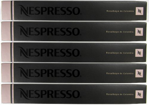 50 Nespresso Capsules Rosabaya De Colombia Coffee New
