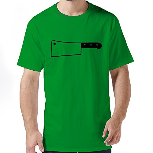 Lfd Men'S Cleaver Knife Cotton Round Collar T Shirt 6 Forestgreen