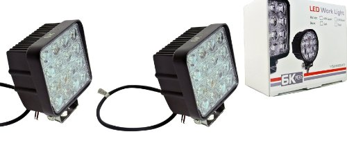 "6Kled 448 New Led Work Lights 48W Square 4.3"" High Power Off Road 4X4 Tractor Atv Lighting Pair"