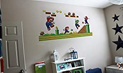 Nintendo Mario Brother s Wall Sticker Removable Decal Decoration Boy s Kids Playroom Bedroom Vinyl Wallpaper Art