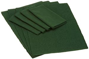 DII Cozy Christmas Holly Green Linens, Set of 8