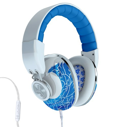 Jlab Bombora Over The Ear Headphones With Universal Mic - Limited Edition Tekst White And Blue