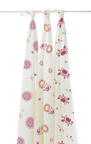 aden + anais Rayon from Bamboo Swaddle Blanket 3 Pack, Pyara - 1