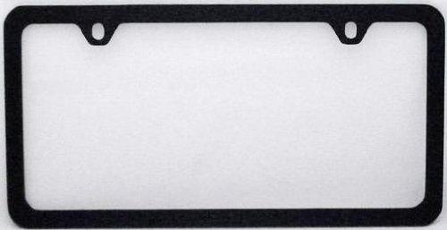 blank black metal thin rim license plate frame