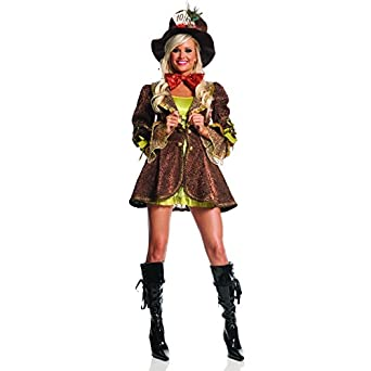 Mystery House Mad Hatter Costume, Brown, Small