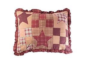 Star Patch Patchwork Pillow Sham